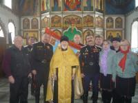 В храме прп. Сергия Радонежского г. Бородино была принята присяга у двух казаков