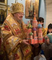 В день своего рождения Владыка Пантелеимон совершил Литургию в Покровском кафедральном соборе Красноярска