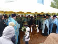 Митрополит Пантелеимон возглавил молебен на месте возрождения Богородице-Рождественского собора в Красноярска