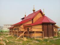 Строительные работы ведутся в храме Александра Невского в Красноярске