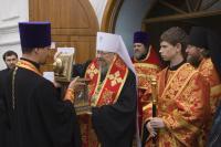 В Красноярск прибыл ковчег с частицей мощей святителя Николая, архиепископа Мир Ликийских, чудотворца