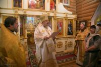 Правящий архиерей совершил Литургию престольного праздника в Александро-Невском храме Красноярска