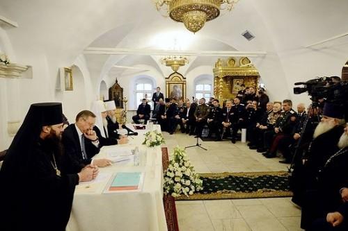 Патриарх Кирилл: Воцерковление казачества – единственный путь его возрождения