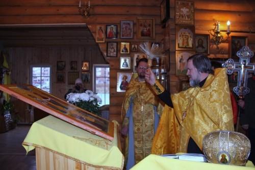 Cостоялось освящение не обычной войсковой иконы Покрова Божией Матери